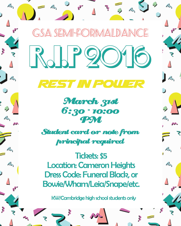 GSA Semi Formal Dance: RIP 2016 | OK2BME