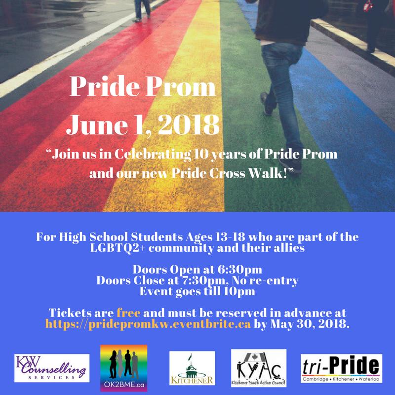 Pride Prom 2018 poster